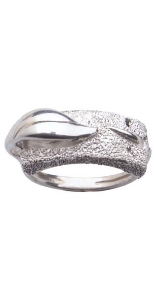 """anillo """"La hoja"""" de la colección agua y fuego"""